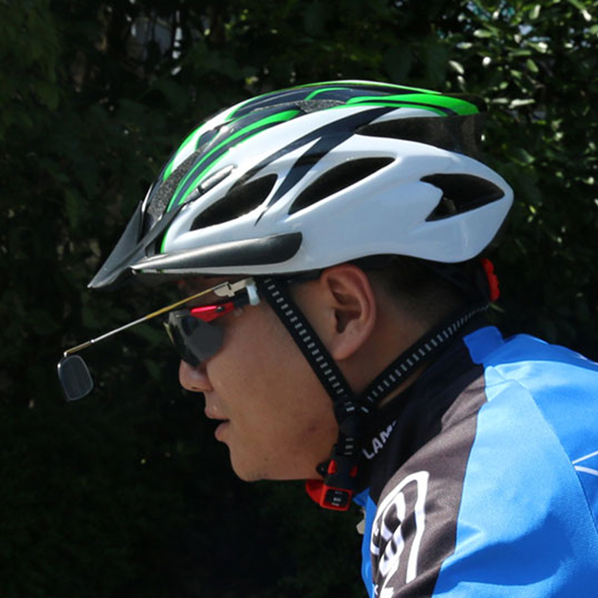 BIKIGHT Aluminum Alloy Lightweight 360 Degree Bike Helmet Mount Rear View Mirrors Adjustable