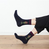 Mens Cotton Middle Tube Socks Breathable Heavy Duty Reinforced Crew Socks