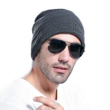 Mens Womens Winter Warm Knitted Beanie Causal Windproof Earmuffs  Skull Caps Plush Slouch Hats