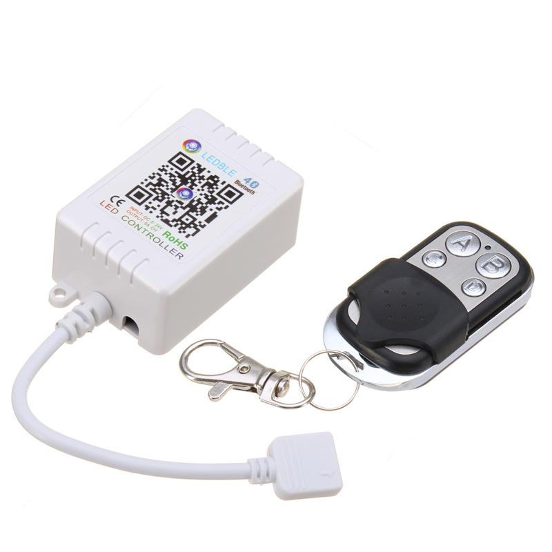 DC5-24V 6A Bluetooth Music APP RGB LED Strip Light Controller + Mini 4Keys  RF Remote Control