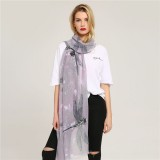 Women Long Warm Printing Dragonfly Pattern Scarf Fashion Outdoor Shawl Scarves