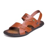 Men Casual Breathable Two Way Wear Microfiber Leather Sandals Summer Shoes