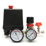 120PS Air Compressor Pressure Valve Switch Manifold Relief Regulator Gauge