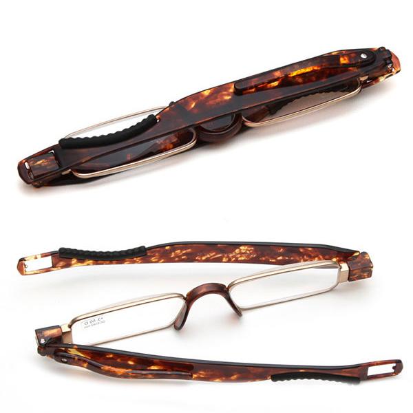 Men Women Portable 360 Rotation Folding Reading Glasses Casual Lightweight Presbyopic Glasses