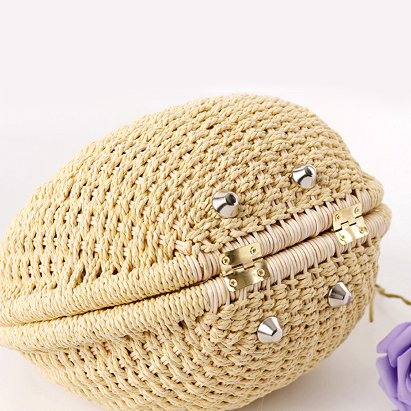 Women Nest Tote Handbag Summer Beach Bag Straw Bag Rattan Bag Handbag