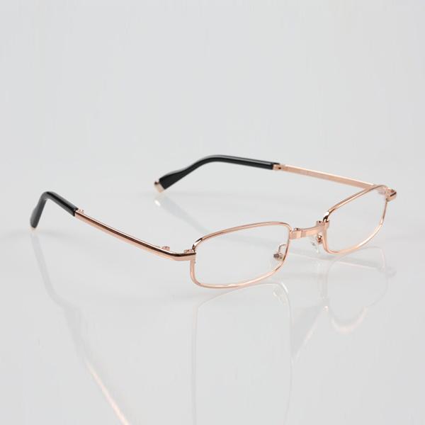 Folding Reading Glasses Men Women Metal Frame Portable Presbyopic Glasses With Glasses Case