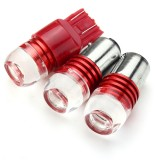 2pcs 1156 1157 7443 3LED Car Red Turn Light Bulb Tail Brake Strobe Lamp Bulb