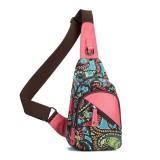 Brenice National Floral Summer Light Women Chest Bag Sling Bag Shoulder Crossbody Bag