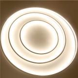 LED Ceiling Pendant Dimming Ring Light Holder Lamp Shade Fixture Home Living Room Decor AC220V