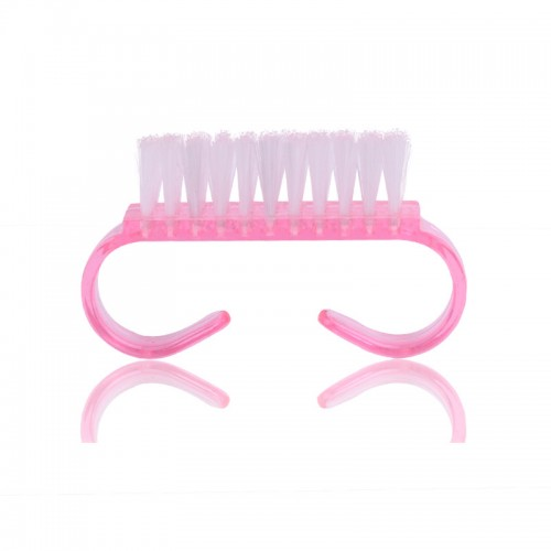 1 Pcs Plastic Nail Dust Clean Cleaning Brush Pedicure Round Head Cleaning Brush Nail Accesories Tool