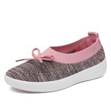 Athletic Casual Shoes Women Breathable Knitting Outddor Flats