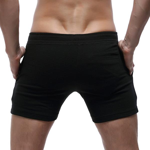 SEOBEAN 100% Cotton Mens Slim Moisture Wicking Shorts Homewear Solid Color Shorts