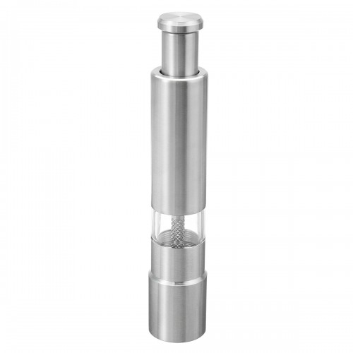 Stainless Steel Thumb Push Salt Spice Sauce Pepper Grinder Mill Muller Stick Tool Picnic BBQ
