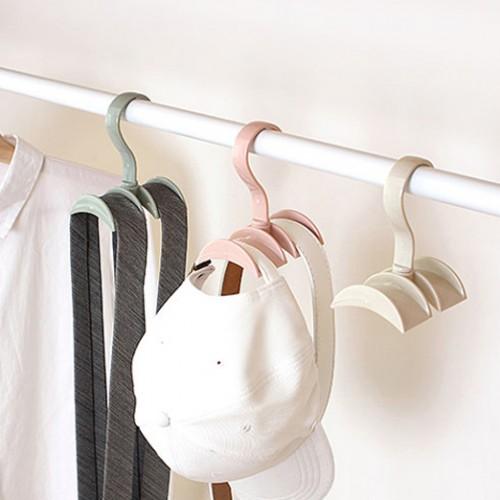 Rotated Storage Rack Bag Hanger Plastic Clothes Rack Creative Tie Closet Hanger Wardrobe Organizer