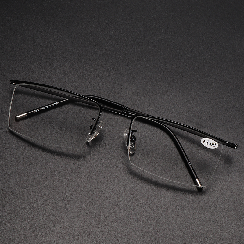 Half Rim Progressive Multifocal Presbyopia Intelligent Reading Glasses Resin Lens