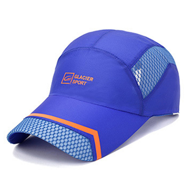 Unisex Men Hat Thin Breathable Stripe Quick Dry Outdoor Sport Sunshade Mesh Baseball Cap