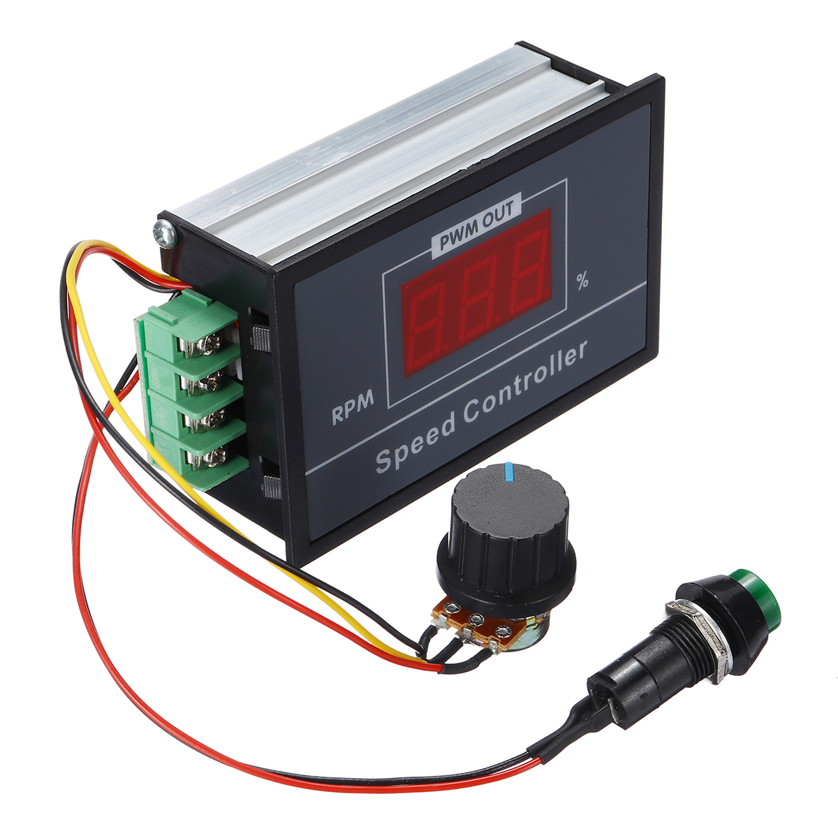 Stepless DC Digital Display Motor Speed Controller with Momentary Start//Stop Switch//Speed Control Potentiometer DC6-60V 6V 12V 24V 48V 30A PWM DC Motor Speed Controller