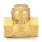 TMOK 1/2″ 2/3″ 1″ Brass Swing Check Valve Female NPT Threaded Durable Brass Construction Valves