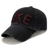 Men Cotton Embroidery Snapback Hat Hip Hop Sunshade Adjustable Baseball Caps