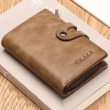Men's Wallet Genuine Leather Credit Card Holder Zipper Wallet