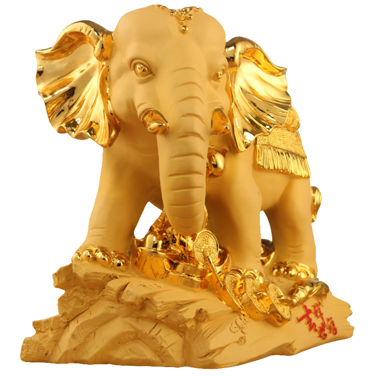 Traditional Chinese Resin Mascot Lucky Wealthy Elephant Statue ...