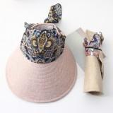 Women Summer Wide Brim Sun Bucket Hat Foldable Anti-UV Gardening Visor Cap
