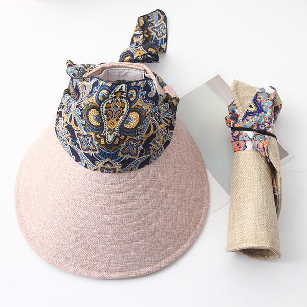 9c24eb91dcb94 Women Summer Wide Brim Sun Bucket Hat Foldable Anti-UV Gardening Visor Cap