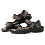 Men Soft Sole Beach Breathable Hook Loop Sandals Summer Shoes