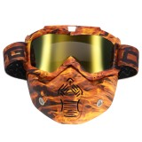 Detachable Modular Mask Shield Goggles Full Face Protect For Motorcycle Helmet