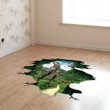 Miico Creative 3D Dinosaur Waterproof Removable Home Room Decorative Wall Door Decor Sticker