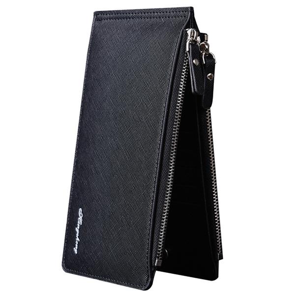 "Men Phone Wallet Credit Card Holder Slim Long Wallet with 17 Card Slots & 5.5"" Phone Pocket"