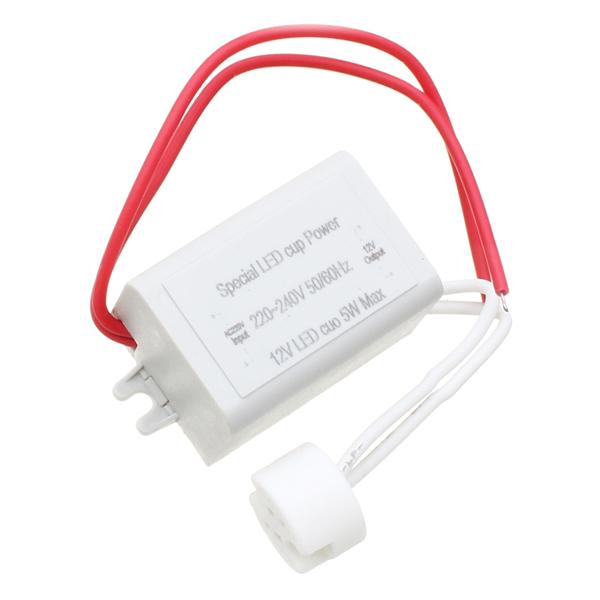 Led Mr16 Electronic Transformer Compatibility: AC220-240V To DC12V 5W Power Supply LED Driver Light