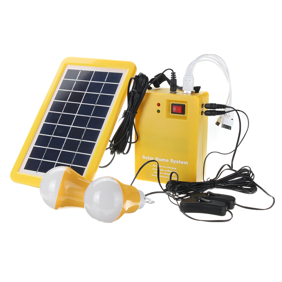 12v Dc Solar Panels Lighting Charging Generator Home Outdoor Energy Ed System
