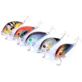 ZANLURE 5PCS 5CM 3.8G Fishing Lures Wobblers Painting Series Fishing Topwater Artificial Hard Baits