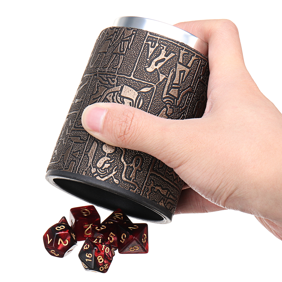 7Pcs Dices Polyhedral Dice Set Mulitisided Dice Role Playing Dice With Cup