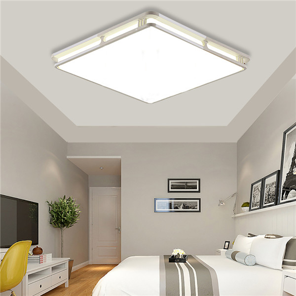 Modern 24w 30cmx30cm Square Led Ceiling Light Led Ceiling: 24W 1000LM Modern Square Acrylic LED Ceiling Lights Flush