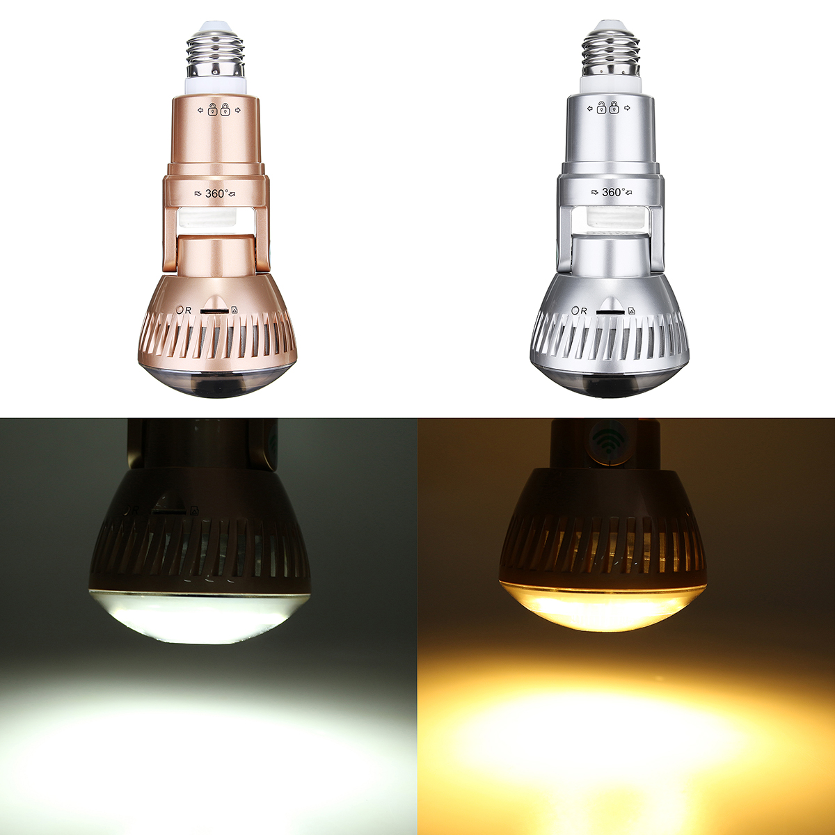 1.3MP 960P Wireless Security Camera LED Light Bulb IP Camera Motion Detection Night Vision