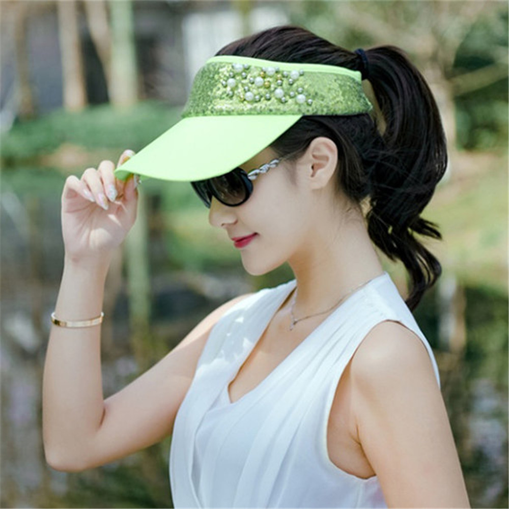 0a9d3ad78bd Women Lace Adjustable Flower Baseball Cap Summer UV Protection Sport Visor  Sun Hat