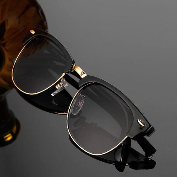Men Women Folding Presbyopic Glasses With Glasses Case Vintage Metal Frame Reading Glasses