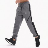 Men's Fitness Running Stitching Color Casual Sports Pants Elastic Waist Drawstring Slim Foot Pants