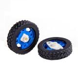 A Pair of 47mm Rubber Wheels for Stepper Motors DC Motors Arduino Smart Robot Accessories