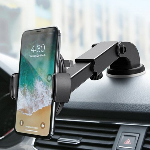RAXFLY Strong Suction Cup Adjustable Arm 360 Degree Rotation Windshield Holder Dashboard Stand