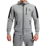 Men's Fitness Jogging Zip Up Sports Tops Spring Autumn Casual Solid Color Hoodies Tops