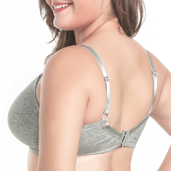 Comfort Wire Free Solid Color Front Strap Open Maternity Nursing Bra