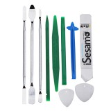 10Pcs HH-F10 Disassemble Mobile Phone Tablet Repair Tools Set Kit Pry Opening Tool Steel Triangle