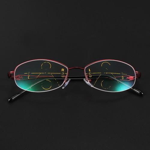 KCASA Progressive Multifocal Lens Presbyopia Reading Glasses Alloy Frame Anti Fatigue