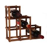 Wooden Red Wine Holder Rack 6 Bottle Wine Rack Mount Kitchen Glass Drinks Holder Storage Organizer