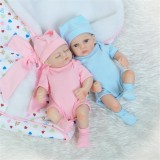 NPK 10 Inch 26cm Newborns Reborn Baby Soft Silicone Doll Handmade Lifelike Baby Girl Dolls