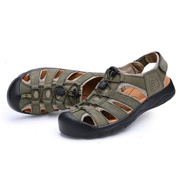 Men Comfy Anti Collision Toe Hook Loop Sandals Outdoor Shoes