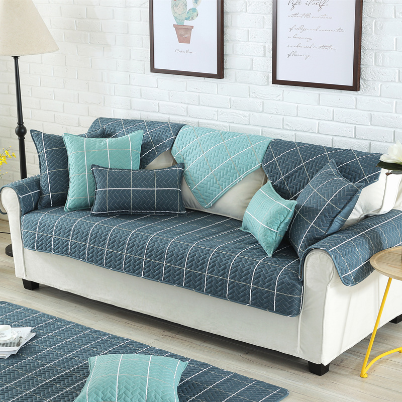 Covering A Sofa With Fabric: Nordic Style Magical Sofa-cover Corner Fabric Double Towel